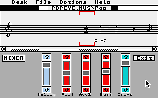 Music Maker atari screenshot