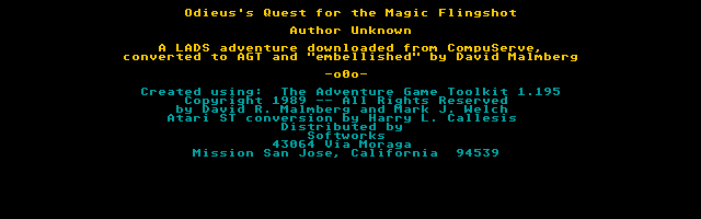 Odieus Quest for the Magic Flingshot