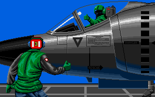 Operation Harrier atari screenshot