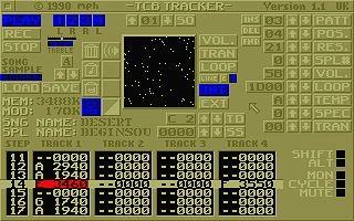 TCB Tracker atari screenshot