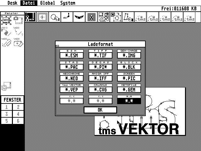 TMS Vektor atari screenshot