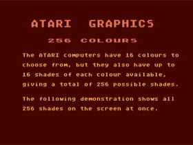 Atari 8bit Graphics Demonstration